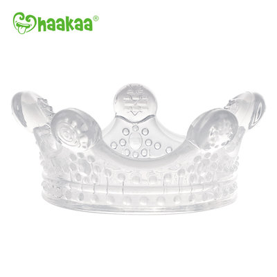 Silicone Crown Teether-Clear