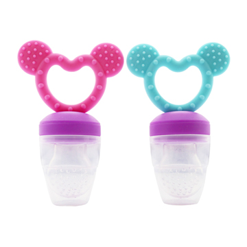 Fresh food teether - 2 in 1 - roze