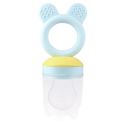 Fresh food teether - 2 in 1 - blauw/geel